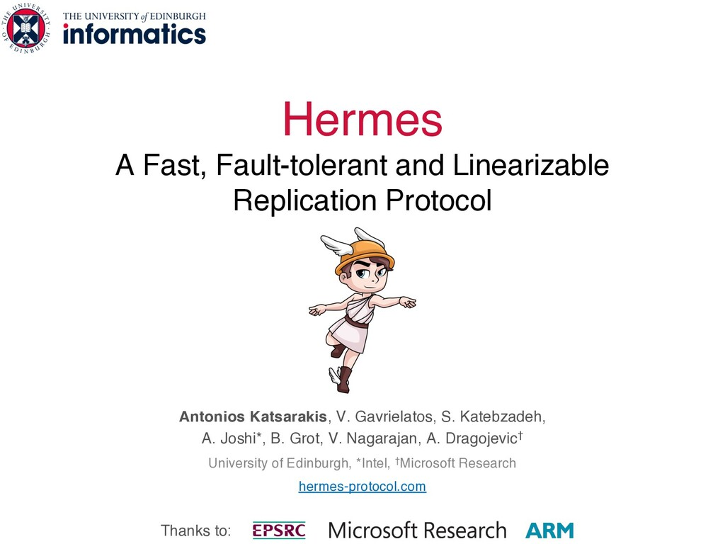 Hermes A Fast, Fault-tolerant and Linearizable ...