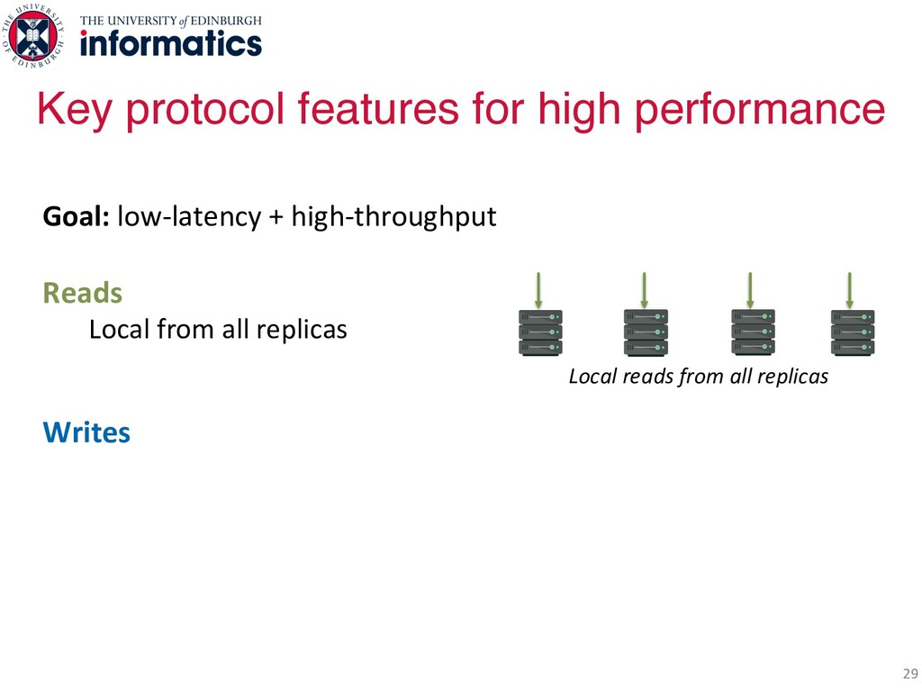 29 Goal: low-latency + high-throughput Reads Lo...
