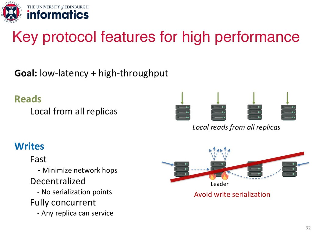 32 Goal: low-latency + high-throughput Reads Lo...