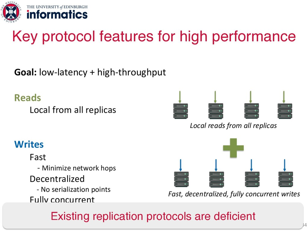 34 Goal: low-latency + high-throughput Reads Lo...