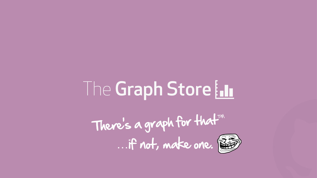 ! The Graph Store + There's a graph for that™ …...