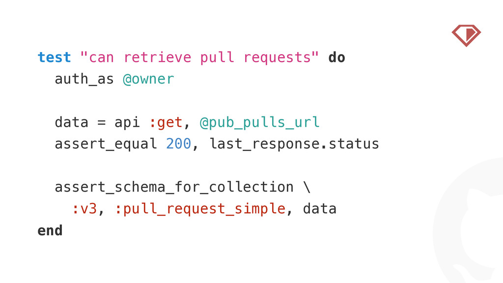 "! test ""can retrieve pull requests"" do auth_as ..."