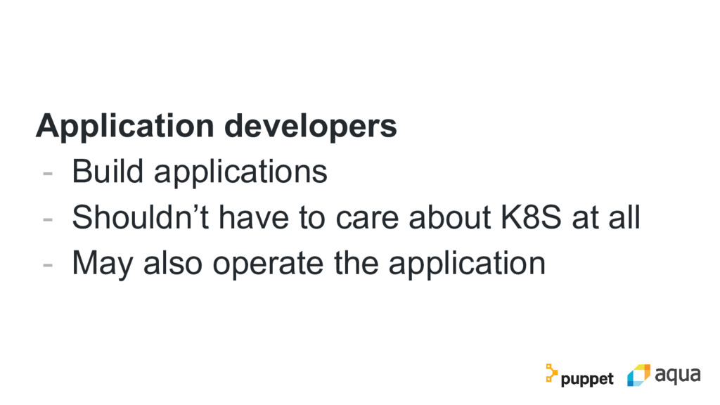 Application developers - Build applications - S...