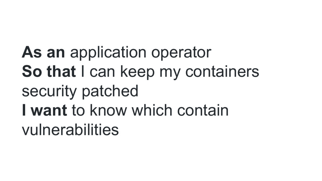 As an application operator So that I can keep m...