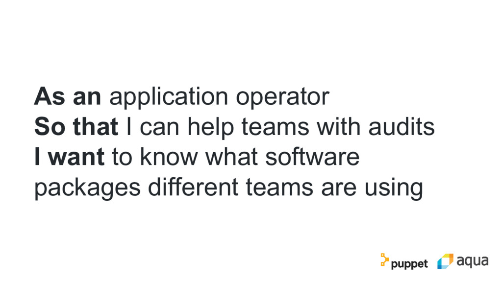 As an application operator So that I can help t...