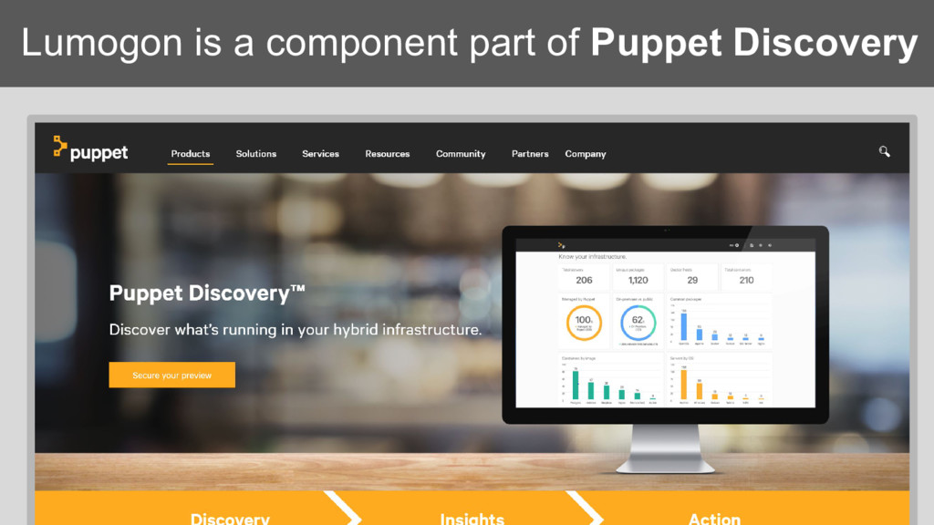 Lumogon is a component part of Puppet Discovery