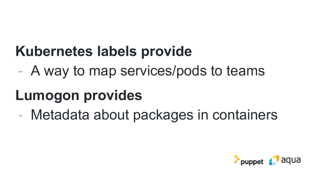 Kubernetes labels provide - A way to map servic...