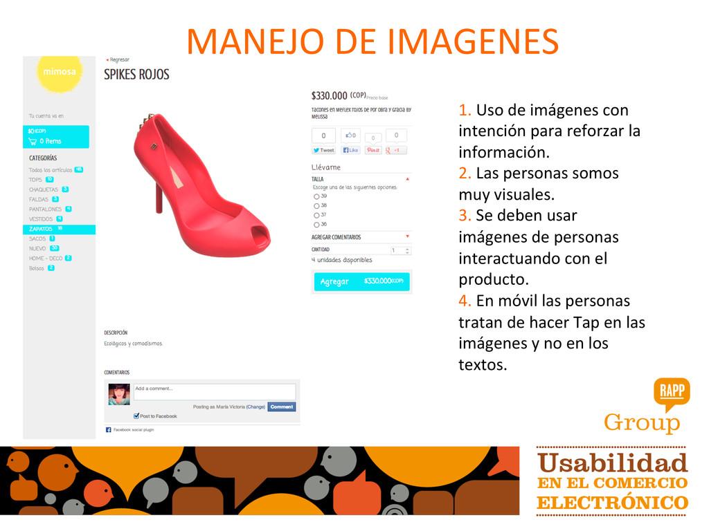 MANEJO DE IMAGENES  1. Uso de ...