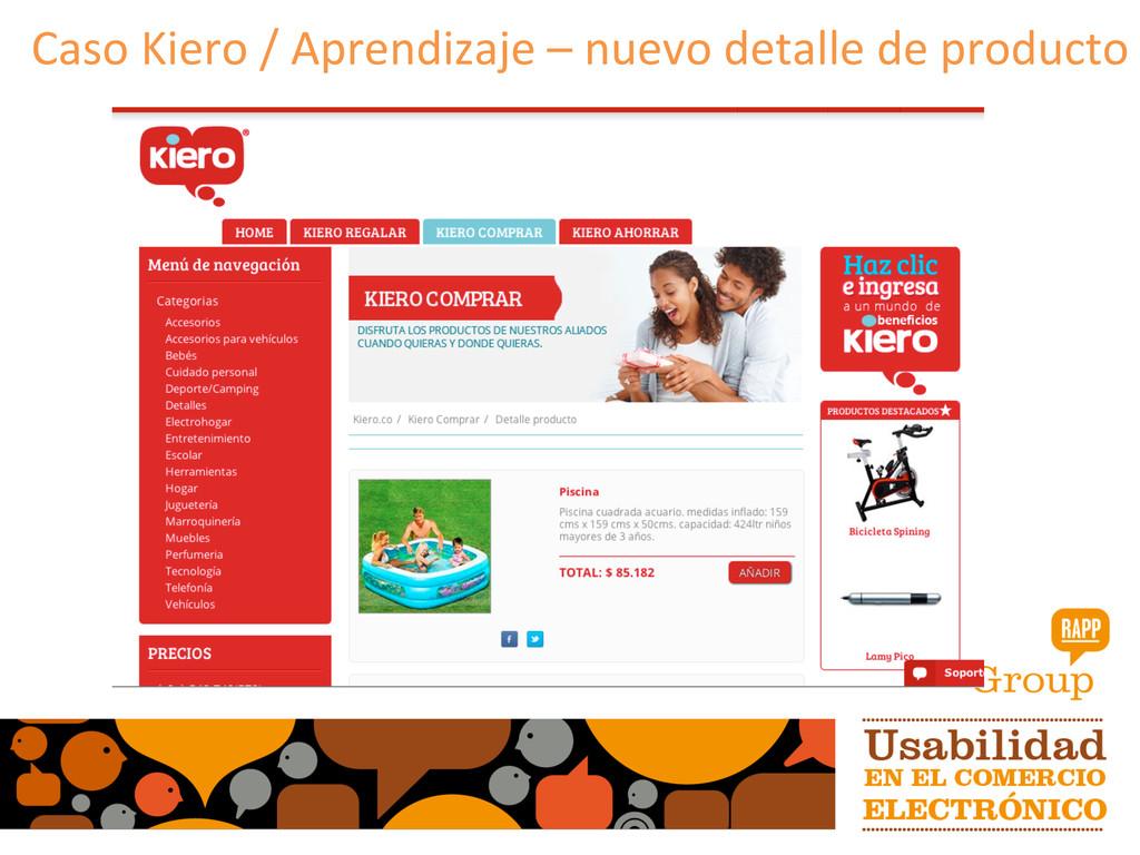 Caso Kiero / Aprendizaje – nuevo...