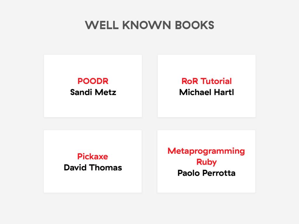 WELL KNOWN BOOKS POODR Sandi Metz RoR Tutorial ...