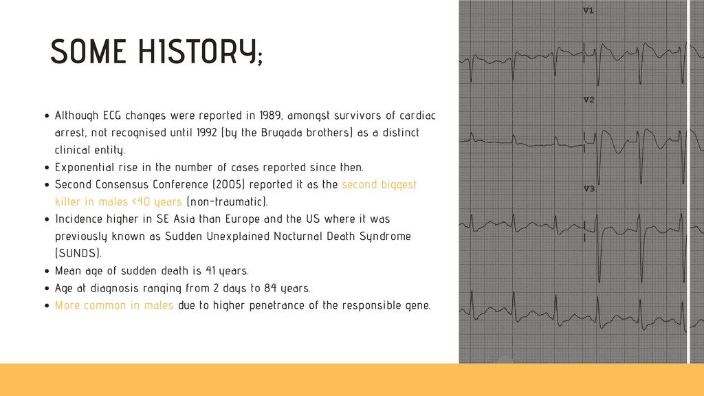 SOME HISTORY; Although ECG changes were reporte...