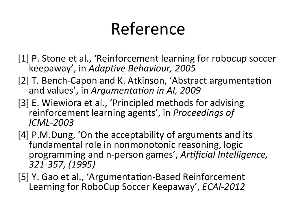 Reference [1] P. Stone et al., '...