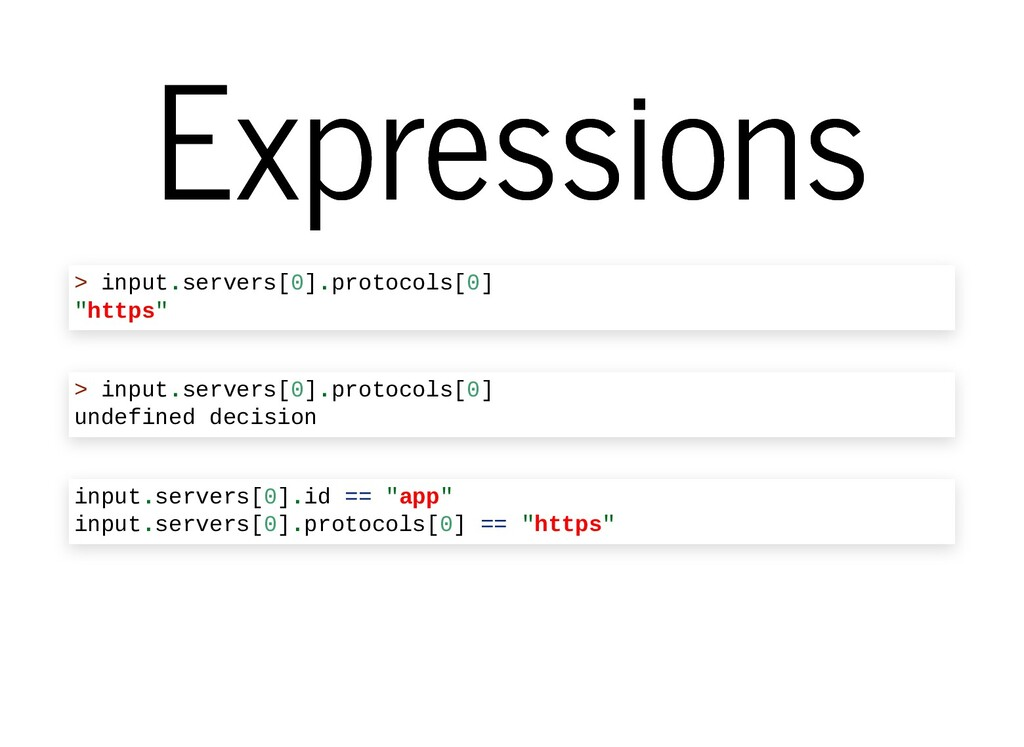 Expressions Expressions > input.servers[0].prot...