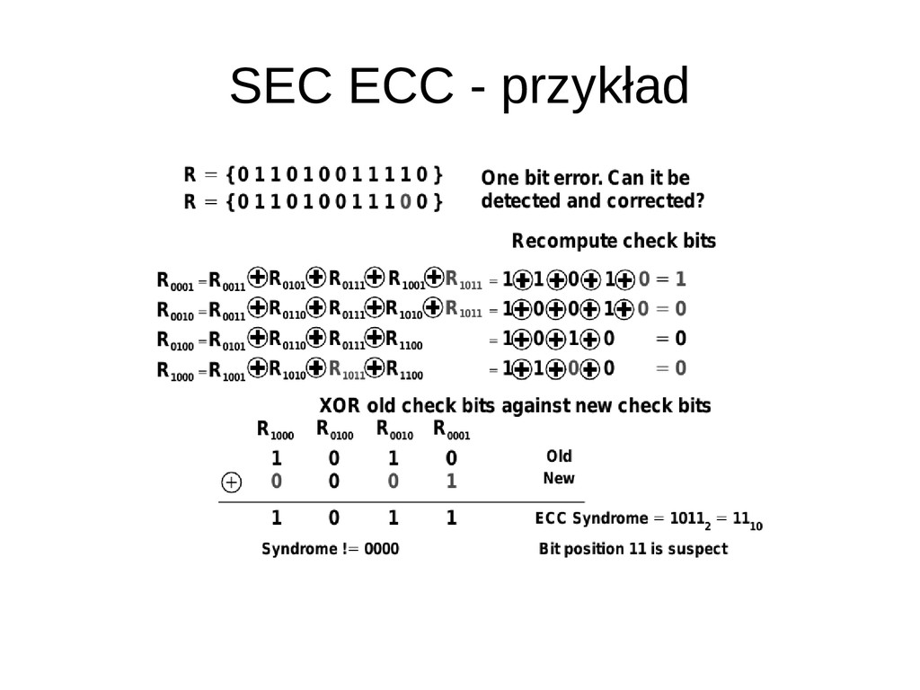 SEC ECC - przykład