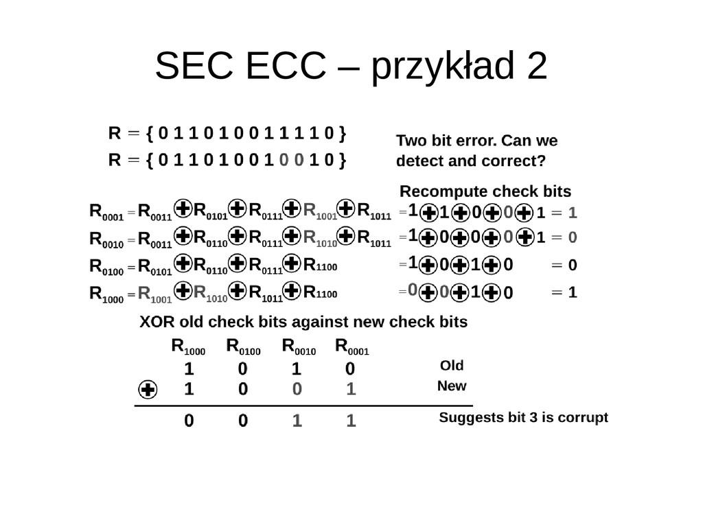 SEC ECC – przykład 2