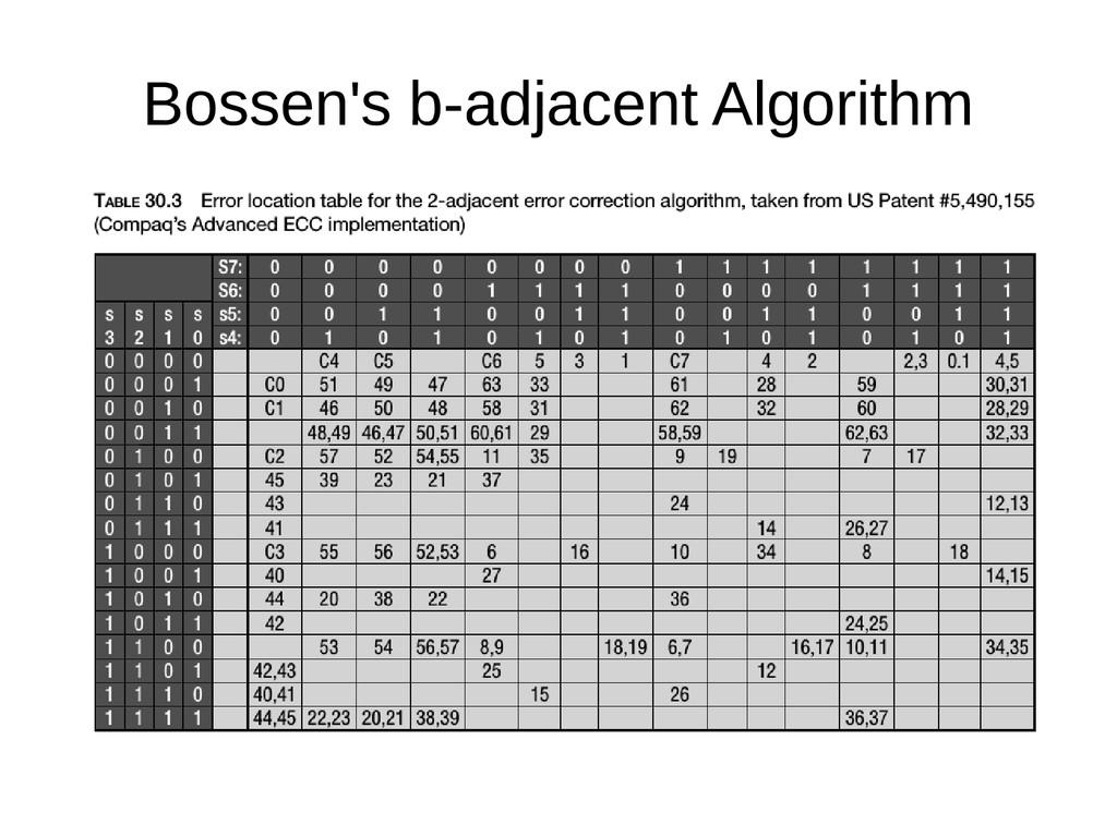 Bossen's b-adjacent Algorithm