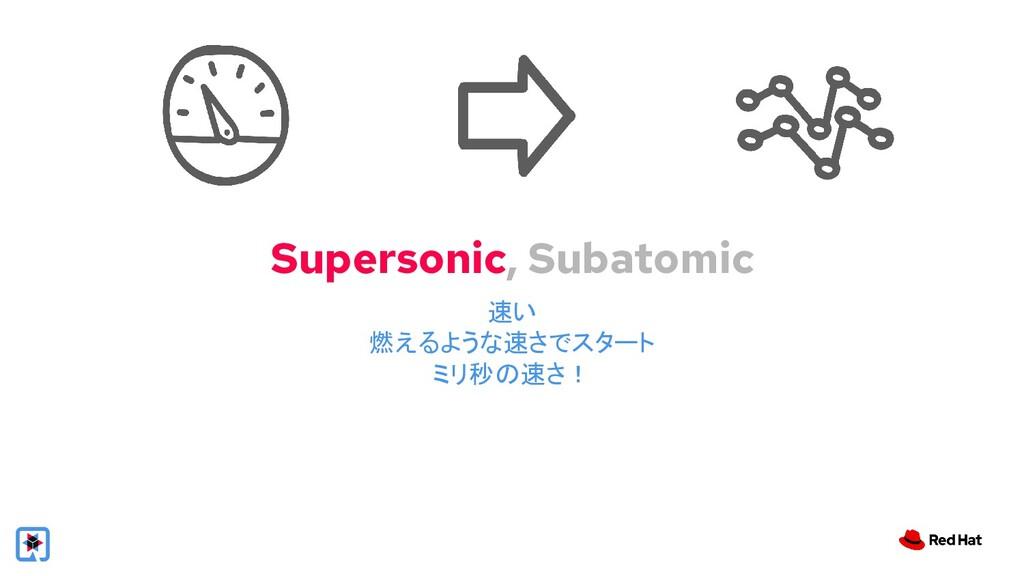 Supersonic, Subatomic 速い 燃えるような速さでスタート ミリ秒の速さ!