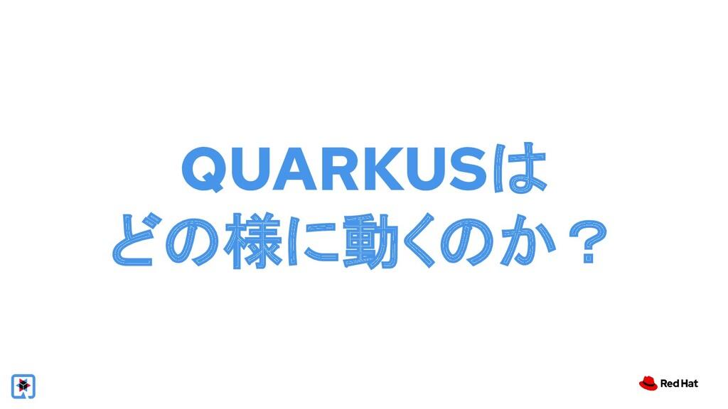 QUARKUSは どの様に動くのか?