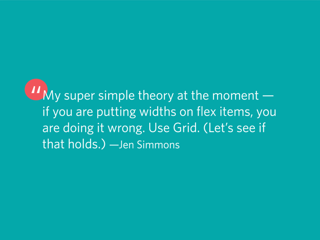"""My super simple theory at the moment — if you ..."