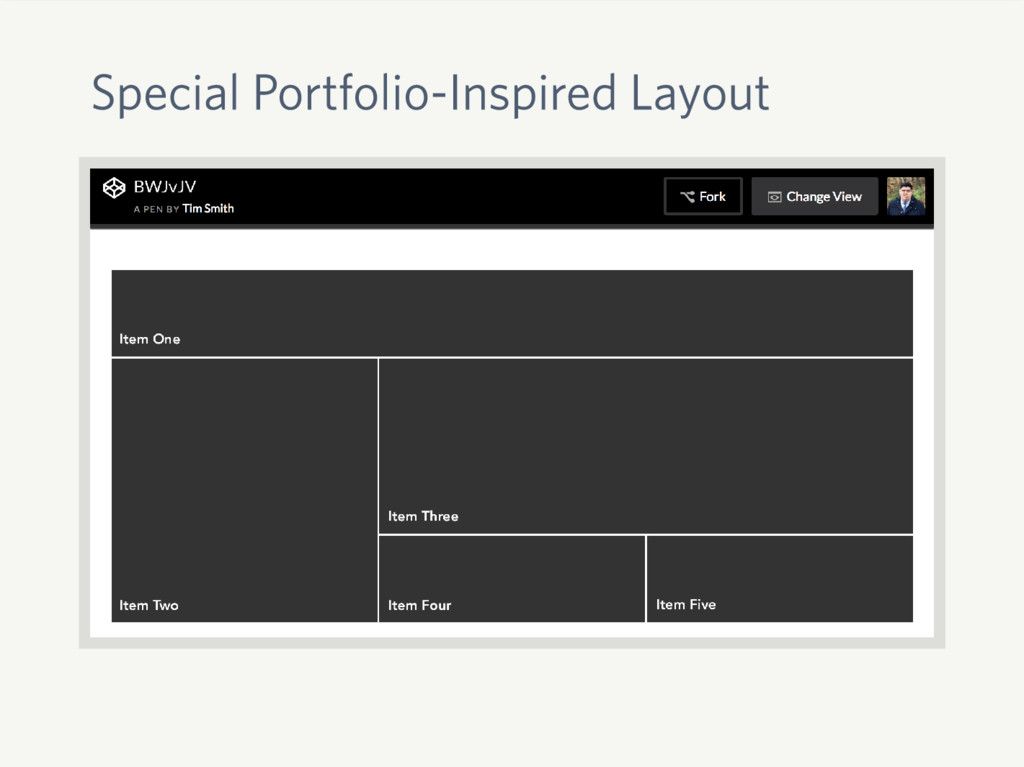 Special Portfolio-Inspired Layout