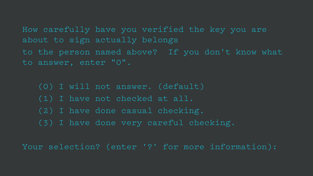 How carefully have you verified the key you are...