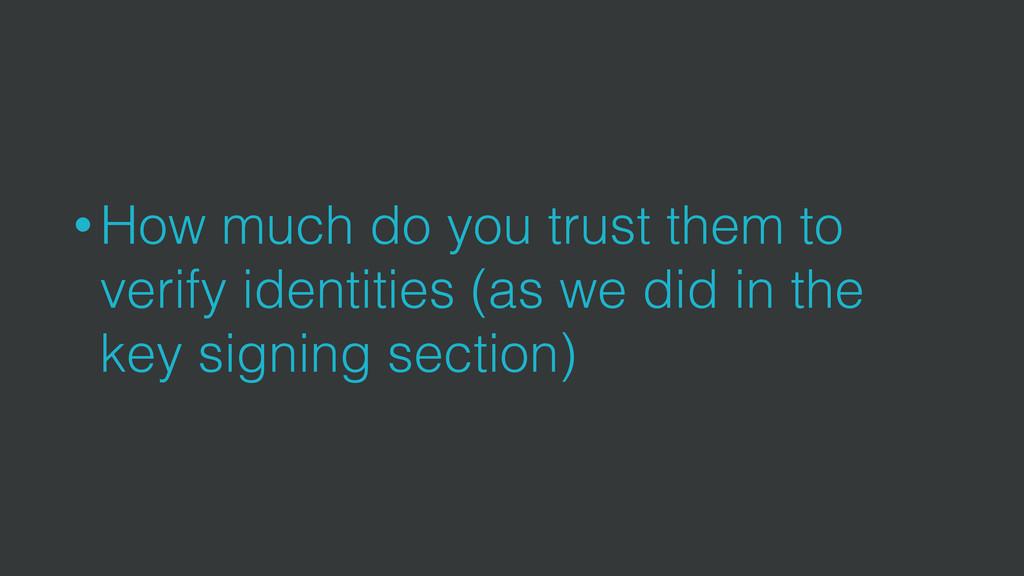• How much do you trust them to verify identiti...