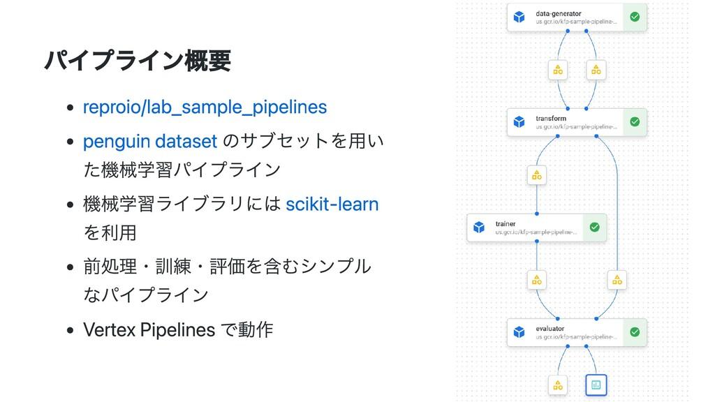パイプライン概要 reproio/lab_sample_pipelines penguin d...