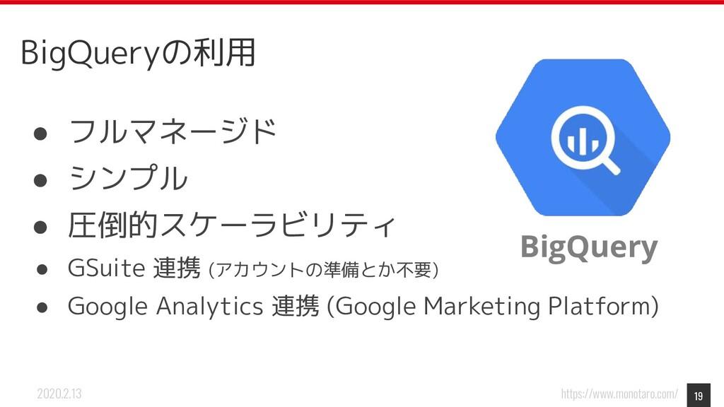 https://www.monotaro.com/ 2020.2.13 BigQueryの利用...