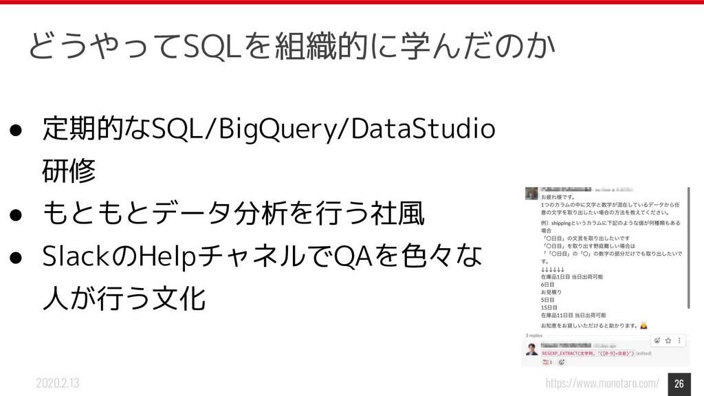 https://www.monotaro.com/ 2020.2.13 ● 定期的なSQL/B...