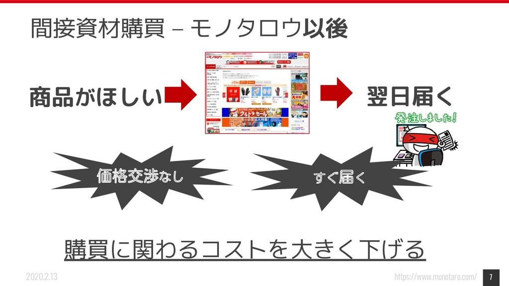 https://www.monotaro.com/ 2020.2.13 7 間接資材購買 – ...
