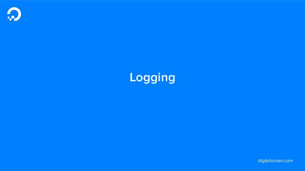 digitalocean.com Logging