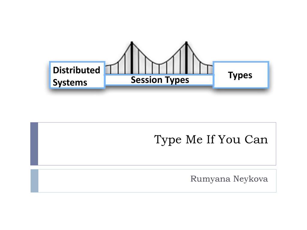 Type Me If You Can Rumyana Neykova Distributed ...