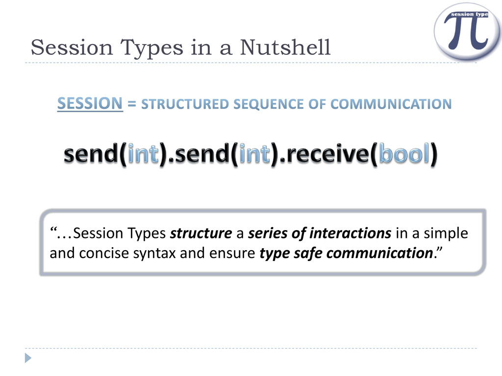 """Session Types in a Nutshell """"…Session Types str..."""