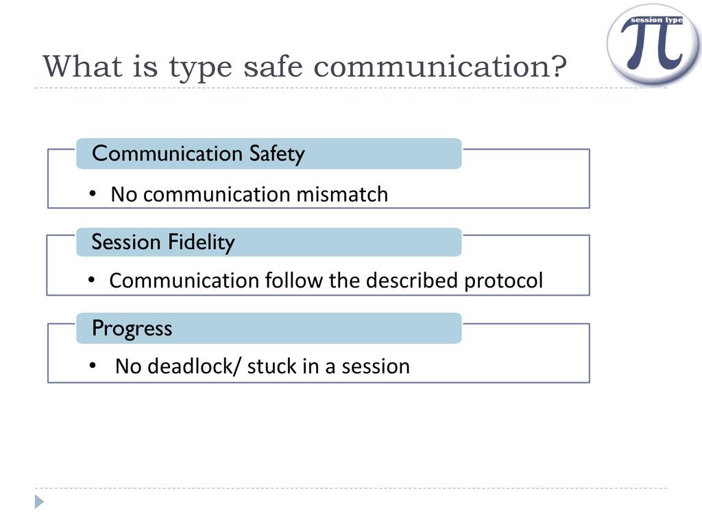 What is type safe communication? • Communicatio...