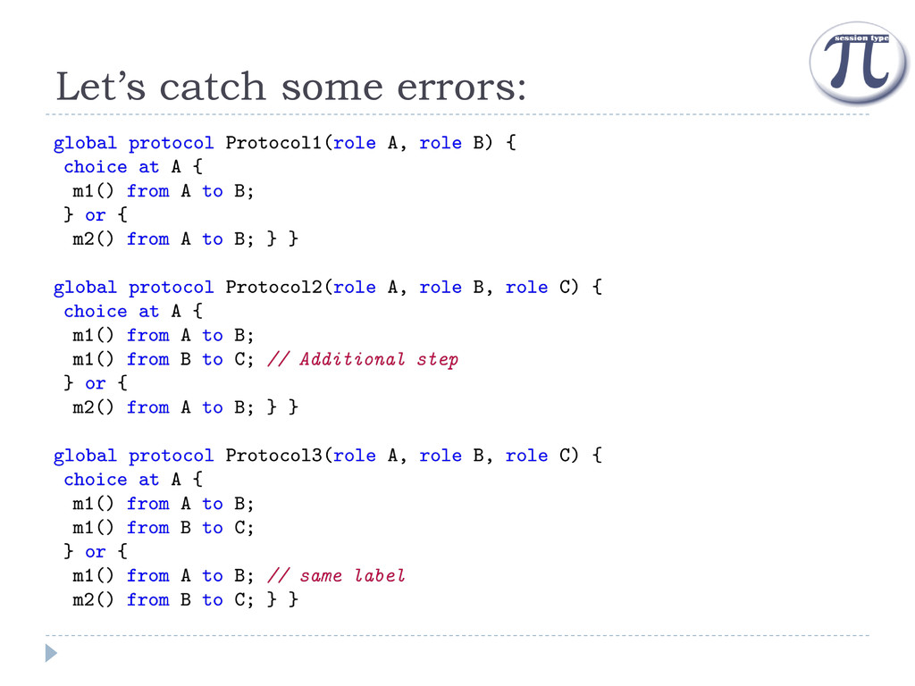 Let's catch some errors: