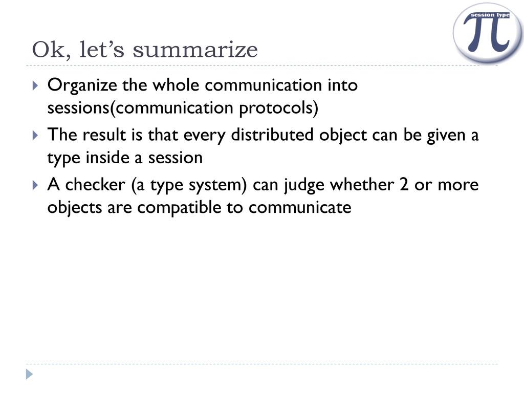 Ok, let's summarize  Organize the whole commun...