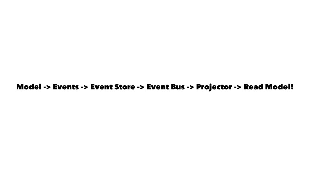 Model -> Events -> Event Store -> Event Bus -> ...