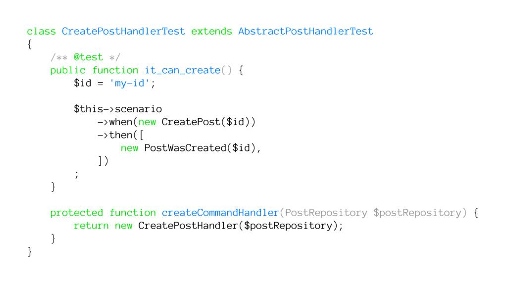 class CreatePostHandlerTest extends AbstractPos...