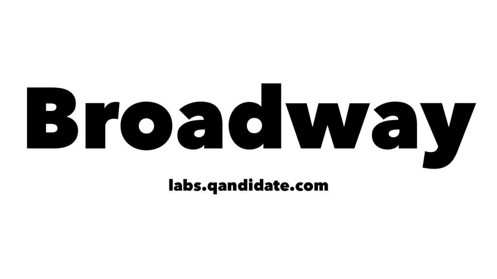 Broadway labs.qandidate.com