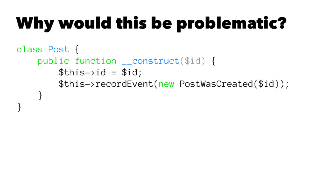 Why would this be problematic? class Post { pub...