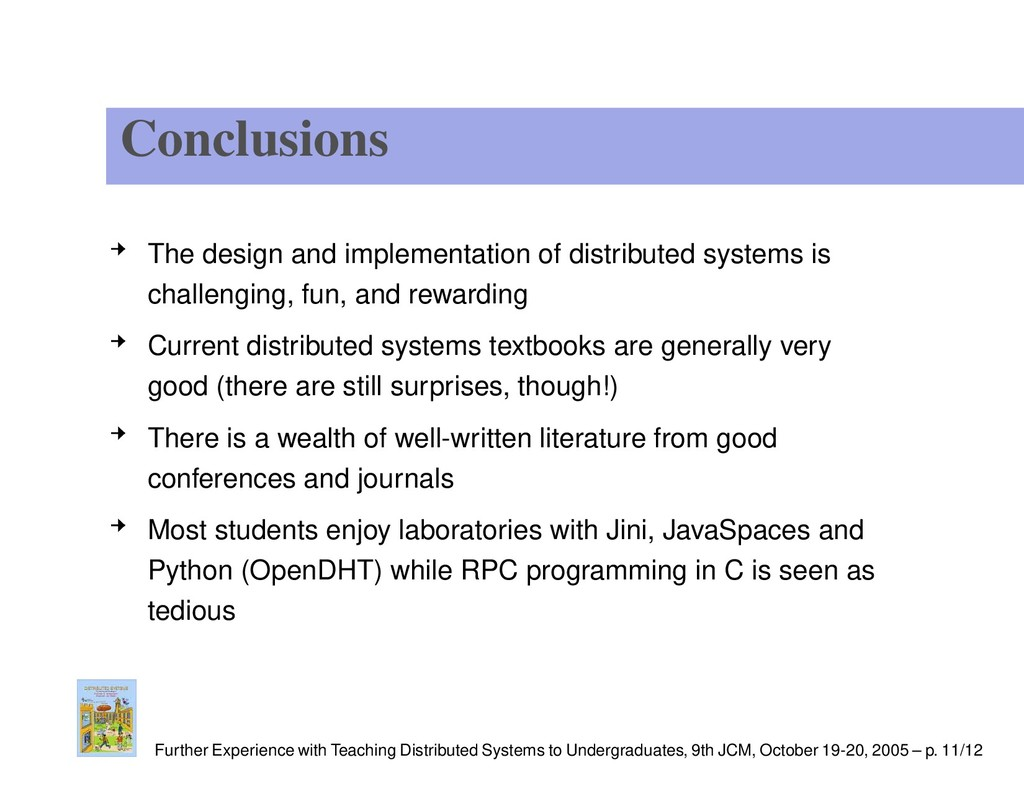 Conclusions The design and implementation of di...