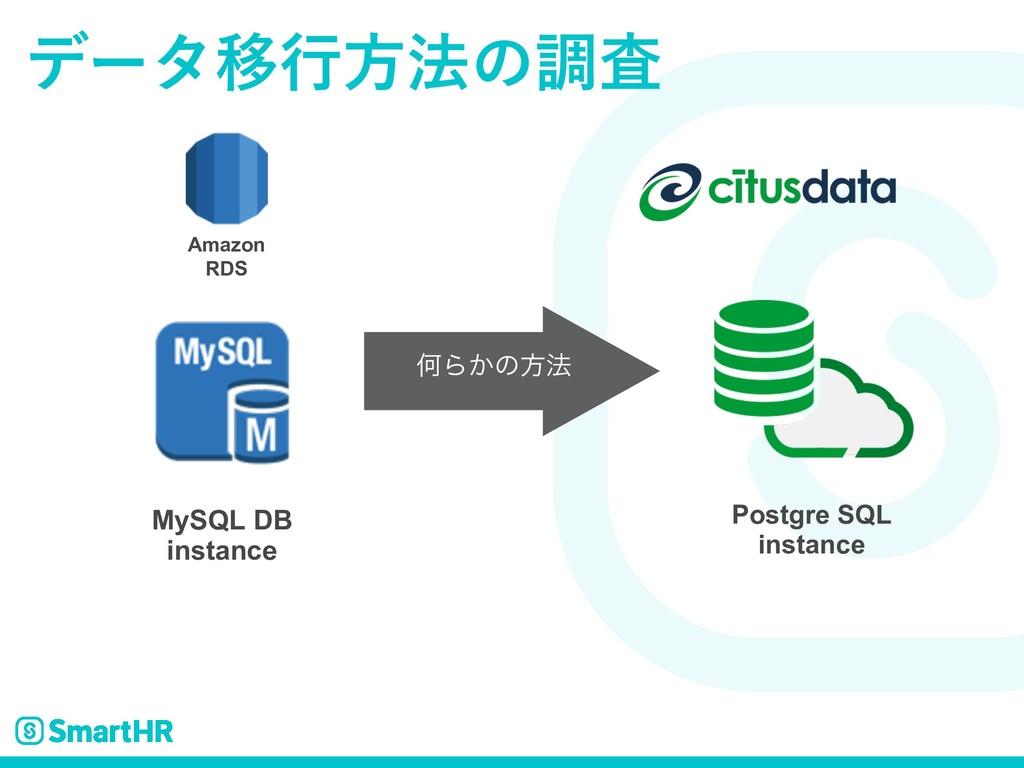 σʔλҠߦํ๏ͷௐࠪ MySQL DB instance Amazon RDS Postgre...