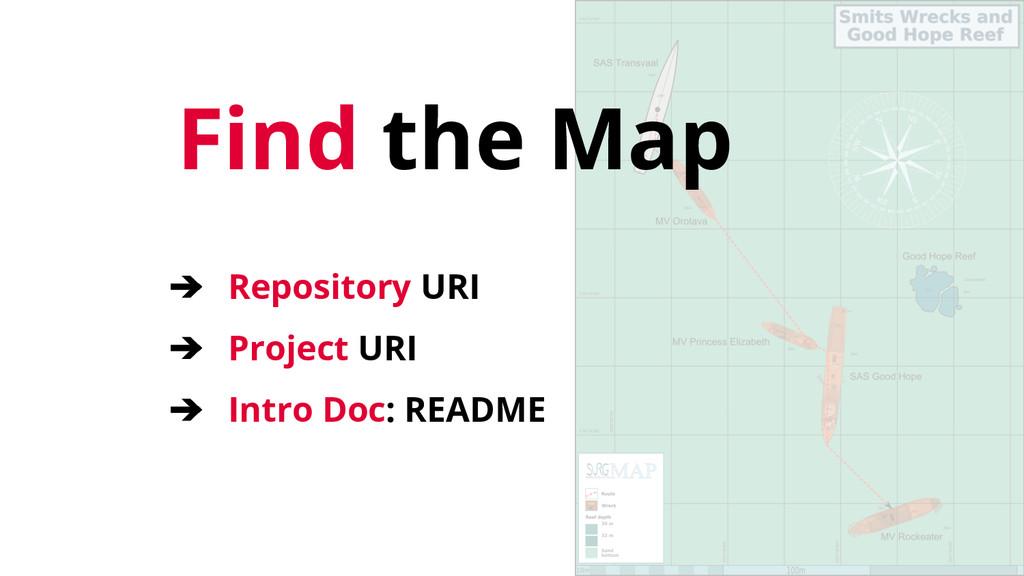 Find the Map ➔ Repository URI ➔ Project URI ➔ I...