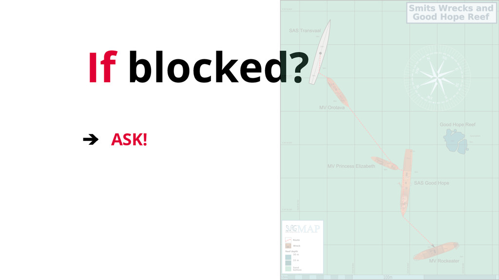 If blocked? ➔ ASK!