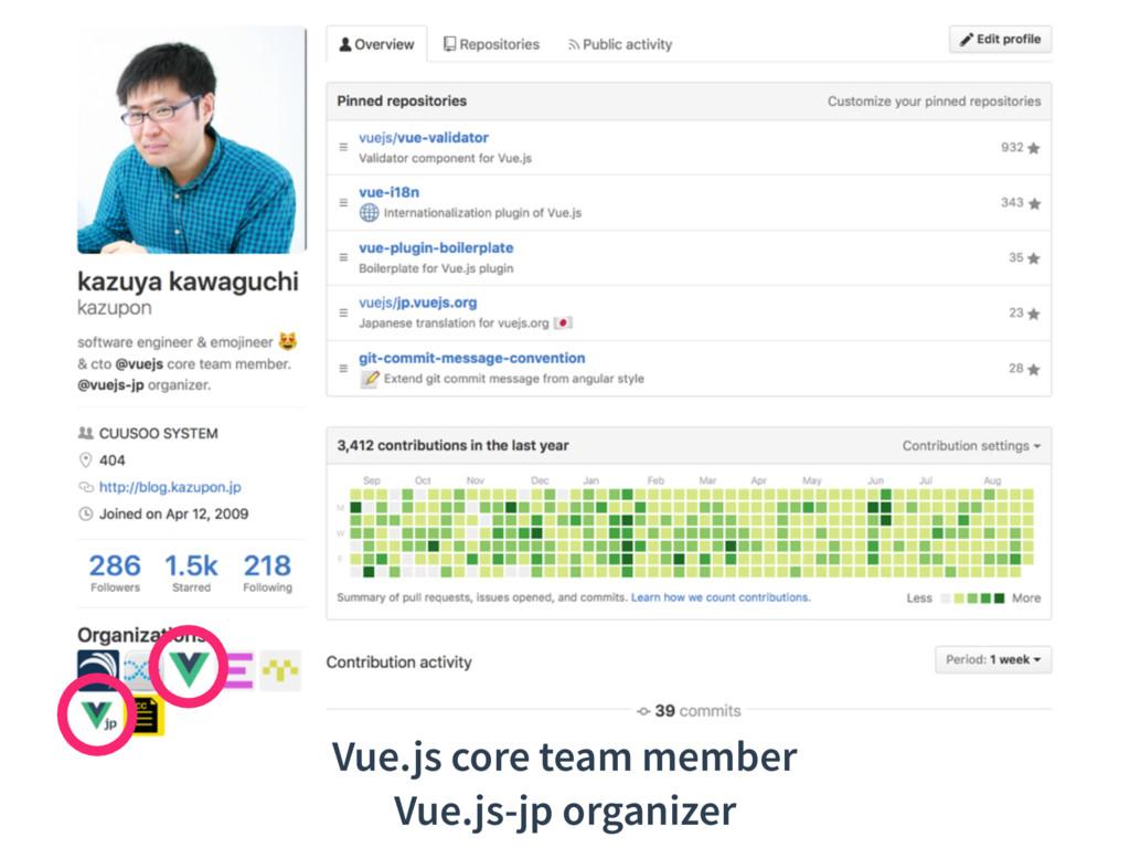 Vue.js core team member Vue.js-jp organizer