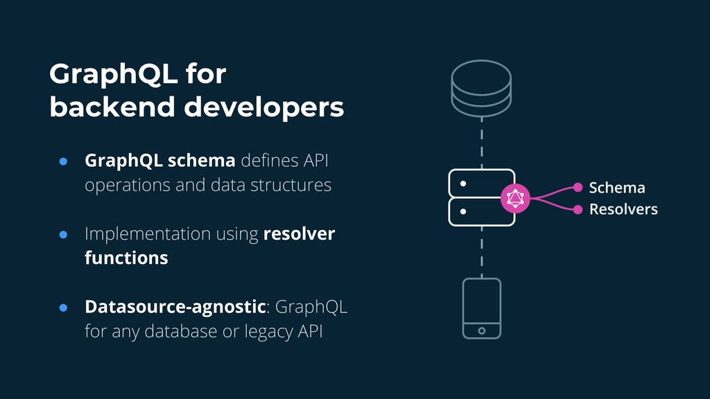 GraphQL for backend developers ● GraphQL schema...