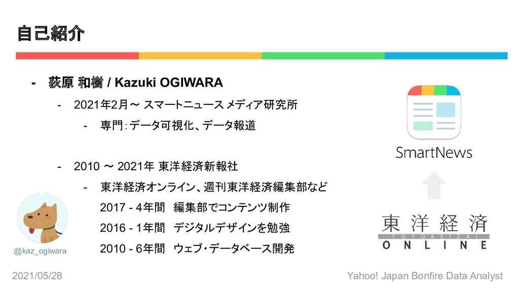 2021/05/28 Yahoo! Japan Bonfire Data Analyst - ...