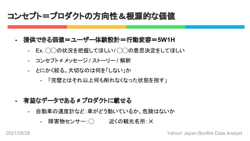 2021/05/28 Yahoo! Japan Bonfire Data Analyst コン...