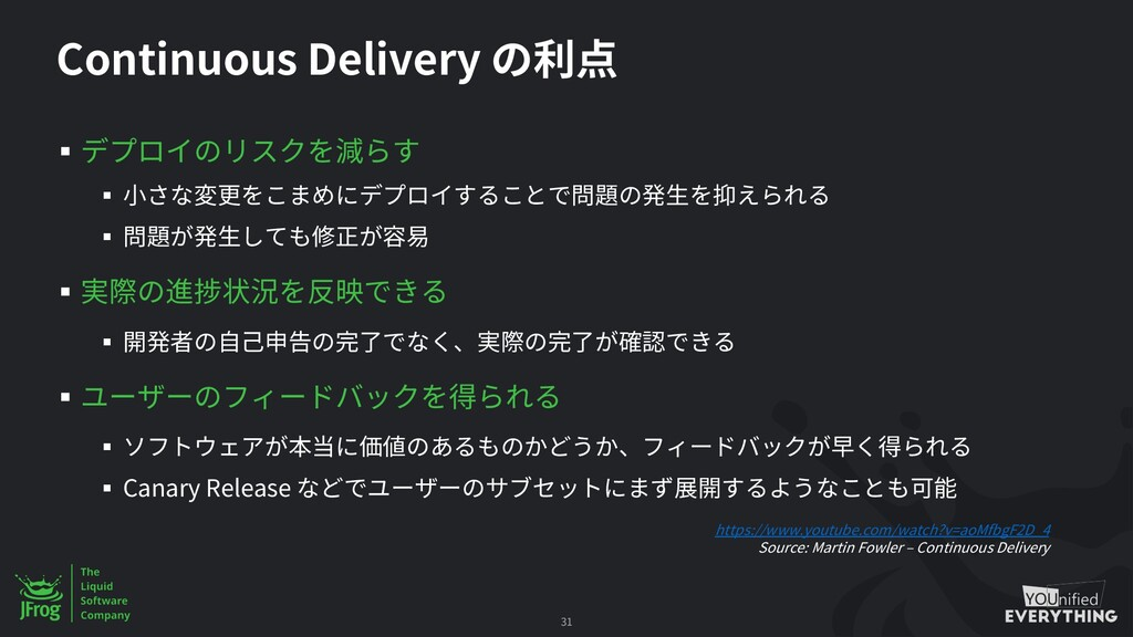 Continuous Delivery § § § § § § § § Canary Rele...