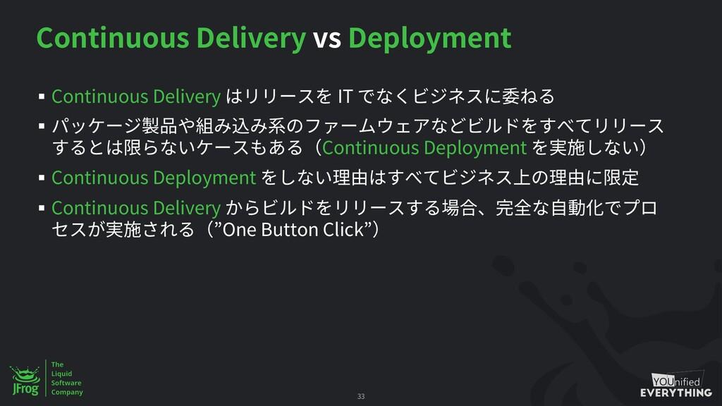 Continuous Delivery vs Deployment § Continuous ...
